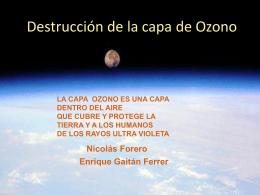 Destrucción del Ozono