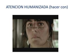 ATENCION HUMANIZADA