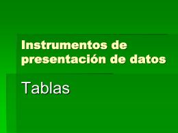 Instrumentos de presentación de datos