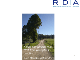 A long and winding road: RDA from principles to