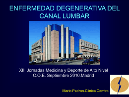 La columna degenerativa lumbar