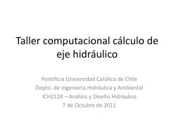 Taller computacional cálculo de eje hidráulico
