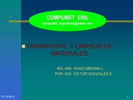LOCOMOTORAS PARA TRANSPORTE EN MINERÍA SUBTERRÁNEA