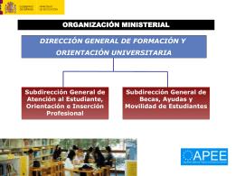 BECAS Y AYUDAS DEL MINISTERIO DE EDUCACIÓN A LOS