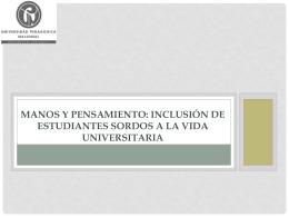 Manos y Pensamiento: Inclusión de estudiantes