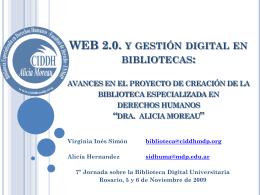 WEB 2.0. y gestión digital en bibliotecas: avances
