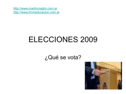 ELECCIONES 2009 - Cátedras de Federico Martín
