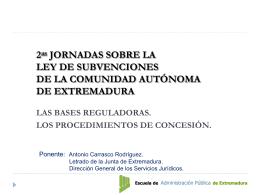 Régimen Jurídico de las subvenciones y ayudas