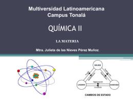 Mtra. Julieta de las Nieves Pérez Muñoz. Química