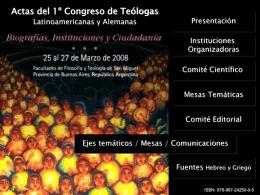 1º CONGRESO DE TEOLOGAS