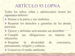 ARTÍCULO 93 LOPNA