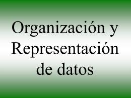 Organización y Representación de datos