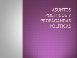 Anuncios Políticos