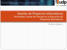 Gestión de Proyectos Informáticos Sesión N° 1 ¿Qué