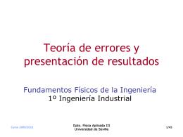 Teoría de errores y presentación de resultados