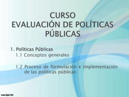 CURSO EVALUACION DE POLITICAS PÚBLICAS