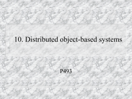 10. Distributed objecct