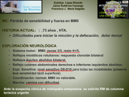 Compresión del cordón medular y mielopatía dorsal