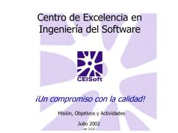 Centro de Excelencia en Ingeniería del Software