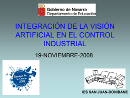 INTEGRACIÓN DE LA VISIÓN ARTIFICIAL EN EL CONTROL