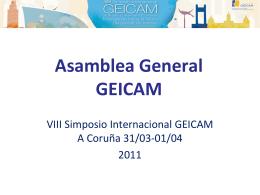 Diapositiva 1 - GEICAM