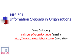 MIS 301 - Technology & Management