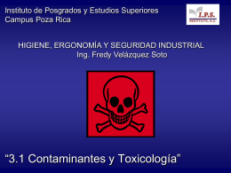 Consideraciones toxicológicas sobre los
