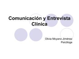 Comunicación y Entrevista Clínica