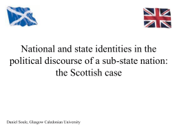 National and state identities in the political