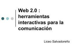 Web 2.0 : herramientas interactivas para la