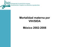 Diapositiva 1 - El rostro de la mortalidad materna
