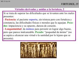 VIRTUDES, 16 - CAMINANDO CON JESUS