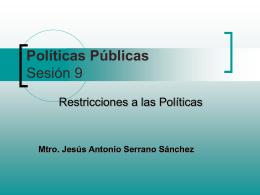 Políticas Públicas Sesión 9