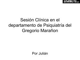 Sesión Clínica en el departamento de Psiquiatría