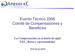 Evento Técnico 2006 Comité de Compensaciones y