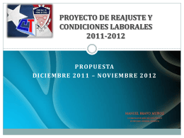 PROYECTO DE REAJUSTE Y CONDICIONES LABORALES