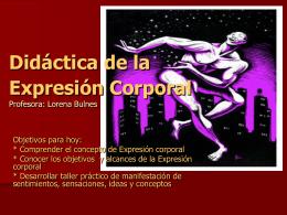 Didáctica de la Expresión Corporal