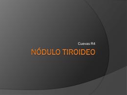 Nódulo tiroideo