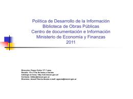Política de Desarrollo de la Información