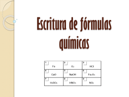 Escritura de fórmulas químicas