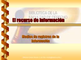 Medios de Registro de Información