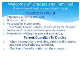 Welcome 5th graders! - Wayzata School District /