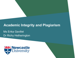Academic integrity. Plagiarism – what's okay and