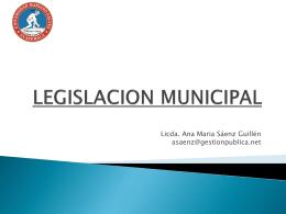 LEGISLACION MUNICIPAL