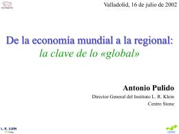 De la economía mundial a la regional: la clave de