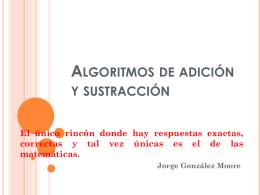 Algoritmos de adición y sustracción
