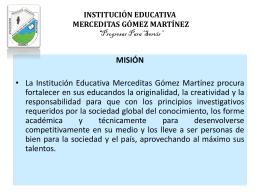 INSTITUCIÓN EDUCATIVA MERCEDITAS GÓMEZ MARTÍNEZ