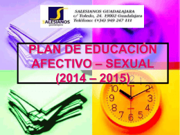 PLAN DE EDUCACIÓN AFECTIVO – SEXUAL (2012 – 2013)