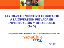 Implementación Crédito Tributario a la I+D