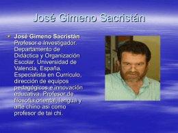 José Gimeno Sacristán